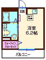 神奈川県横浜市神奈川区西神奈川3丁目の賃貸アパートの間取り