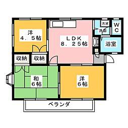 メゾン・ド・ベル I[2階]の間取り