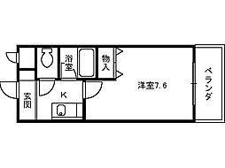ベルデ堺東[406号室]の間取り