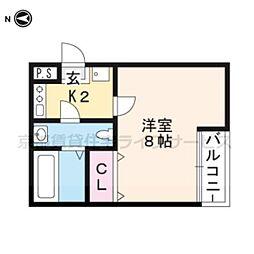 リエール円町[202号室]の間取り