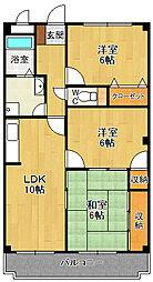 サンスコーレ壱番館[2階]の間取り