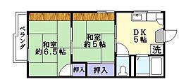 ハイツエトアール[1階]の間取り