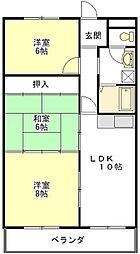 津ロードリーマンション[5階]の間取り