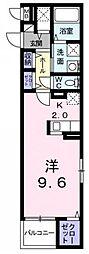 東京都国分寺市東元町2丁目の賃貸マンションの間取り