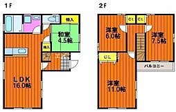 [一戸建] 岡山県岡山市南区豊成3丁目 の賃貸【/】の間取り