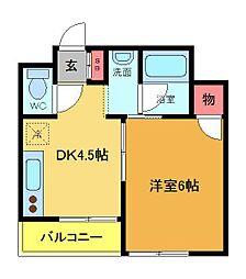 第二唐松ハイツリー[1階]の間取り