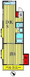 砂金ハイツII[2階]の間取り