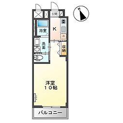 (仮称)市原市惣社新築マンション 1階1Kの間取り