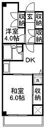 武蔵野パークマンション[3階]の間取り