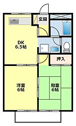 愛知県豊田市寿町7丁目の賃貸アパートの間取り