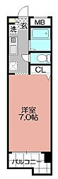 ダイナコートグランデュール博多(205)[205号室]の間取り