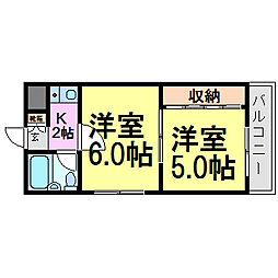 フォンタルNOW[2階]の間取り