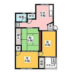 誠峰マンション[3階]の間取り