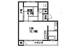 京都ハウス[510号室]の間取り
