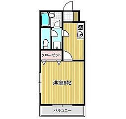 神奈川県相模原市南区御園2の賃貸マンションの間取り