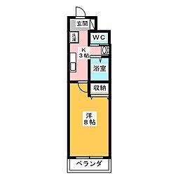 A-city港本宮[2階]の間取り