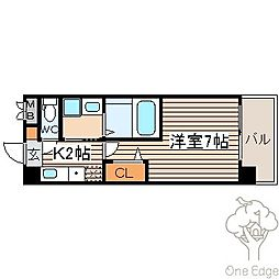 SWISS梅田東[8階]の間取り