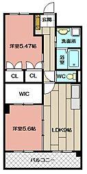 デザイナー・プリンセス・KY[503号室]の間取り