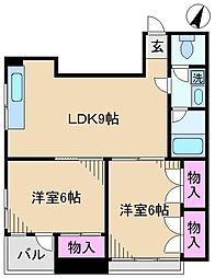 東十条藤巻ビル[3階]の間取り