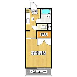コーポ島田 B棟[2階]の間取り
