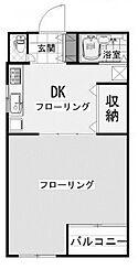 カターラK[1階]の間取り