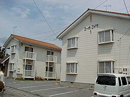 長野県松本市大字内田の賃貸アパートの外観