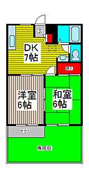SAKURA A棟[103号室]の間取り