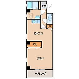 パレ・フルール[4階]の間取り
