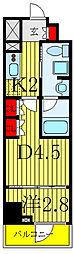 東京メトロ南北線 志茂駅 徒歩1分の賃貸マンション 2階1DKの間取り
