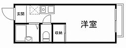 兵庫県姫路市井ノ口の賃貸アパートの間取り