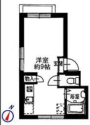 カーサエルモソ[2階]の間取り
