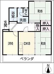 ハイツカトウ(2・3F)[3階]の間取り