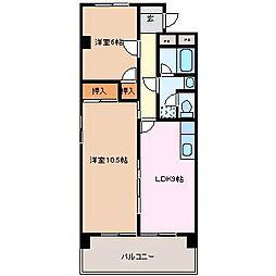 豊田ビル伊勢スカイマンション[4階]の間取り