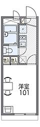 JR片町線(学研都市線) 藤阪駅 徒歩14分の賃貸アパート 2階1Kの間取り