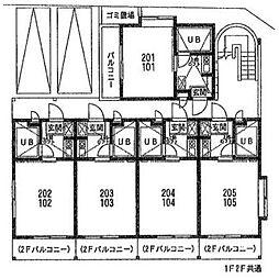 メゾンド・エポール弥栄[1階]の間取り