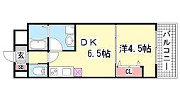 兵庫県神戸市中央区加納町3丁目の賃貸マンションの間取り