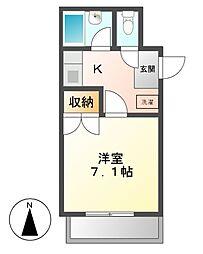 愛知県名古屋市天白区原1丁目の賃貸アパートの間取り
