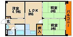 ハイツ播磨[2階]の間取り