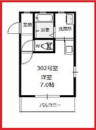 東京都葛飾区東立石4丁目の賃貸アパートの間取り