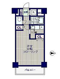 ルーセント方南[4階]の間取り