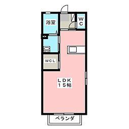 クロワールII[2階]の間取り