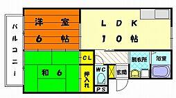 福岡県福岡市東区土井4丁目の賃貸アパートの間取り