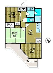 クリオ淵野辺弐番館[2階]の間取り