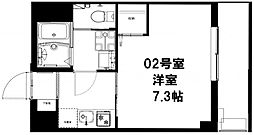 b'CASA 横濱大口[402号室]の間取り