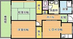たかつアパート[1階]の間取り