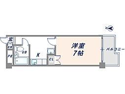 コーポ中西3号館[2階]の間取り