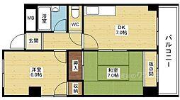 グリーンハイツ新大阪[6階]の間取り