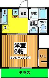 東京都杉並区永福2丁目の賃貸アパートの間取り