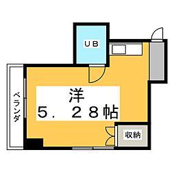 ヴィラカレッジ6[3階]の間取り