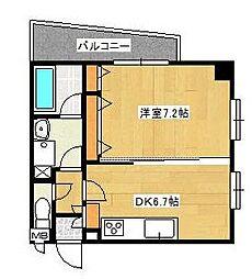 埼玉県戸田市新曽南2丁目の賃貸マンションの間取り